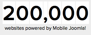 200,000 websites powered by Mobile Joomla!