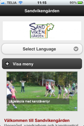 Sandvikengården - Mobile Joomla! Template Elegance
