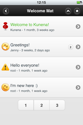 Kunena Mobile Joomla! Extension
