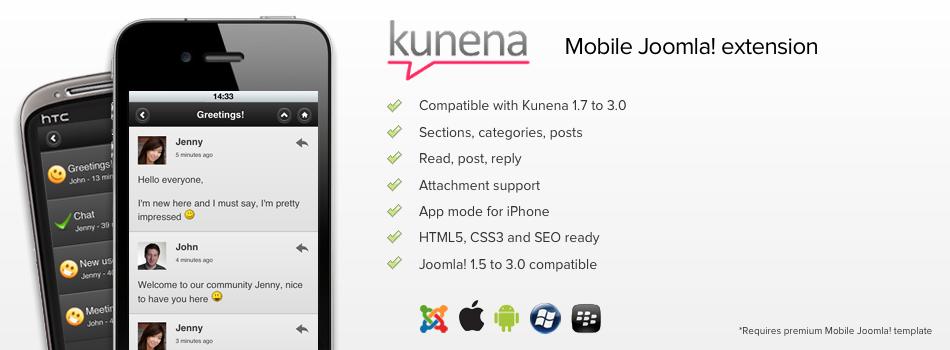 Kunena 2 0 Mobile Joomla! Support Available