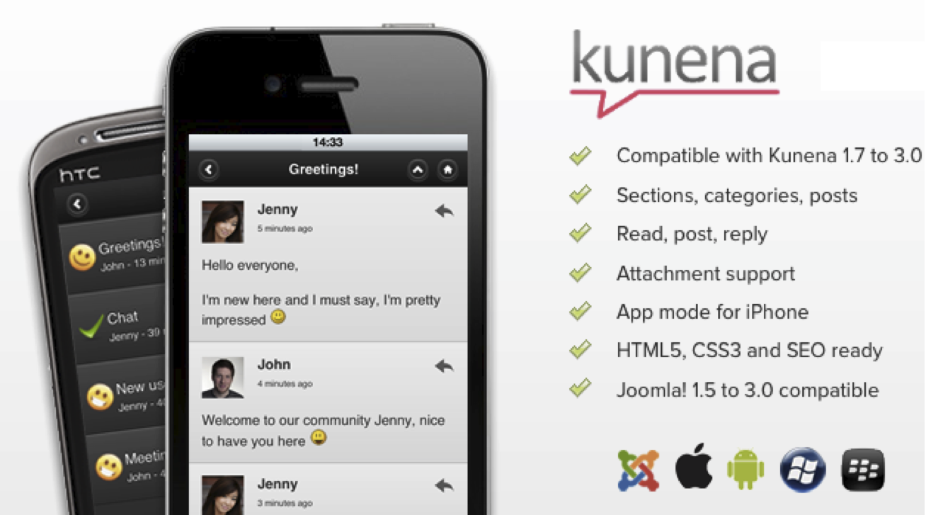 Kunena Mobile Joomla! Extension 3.0